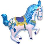 Zirkuspferd blau (Helium)