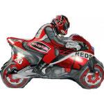 Motorrad rot (Helium)