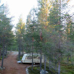 Own parking lot for camping friends