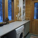 Sauna dressing room w. washing machine, photo 2
