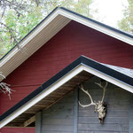 Details / firewood shed and garage/storage building