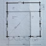 Carage/storage building - floor plan