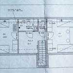 Cottage floor plan, upstairs