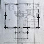 Cottage floor plan, downstairs