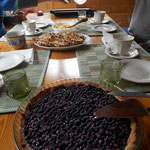 Blueberry pie of the blueberries round the cottage!