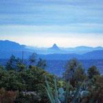 La Peña de Bernal, vista desde el Ranchito