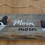 Moin-Schild mit Austernfischer