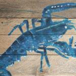 Krabbe, blau
