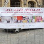 Banderole devant le musée pendant les travaux