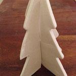 Ornement de table, sapin en porcelaine. Brigitte Morel
