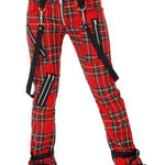 Girls Wool Red Plaid Bondage Hipsters by Tiger Of London (w/ straps) / ¥12,000 / SKU: adf802tiger