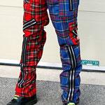 Original 15 Zip Bondage Pants (Wool Blend) by Tiger Of London- SPLIT LEG RED/BLUE PLAID / ¥14,000 / SKU: ccf752rbl