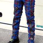 Original 15 Zip Bondage Pants (Wool Blend) by Tiger Of London- BLUE PLAID / ¥14,000 / SKU: ccf752blue