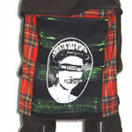 Red Plaid Bum Flap With God Save The Queen Print by Tiger Of London: ¥4,600 / 18 inches by 16 inches