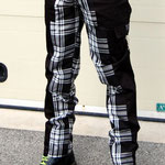 Deviant Bondage Pants by Tiger Of London- BLACK WITH WHITE PLAID / ¥13,000 / SKU: ccf789bwt