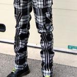 Original 15 Zip Bondage Pants (Wool Blend) by Tiger Of London- BLACK & WHITE PLAID / ¥14,000 / SKU: ccf752bwt