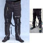 Heavy Duty Black Cotton Bondage Pants by Tiger Of London / ¥15,000 / SKU: ccf700blk