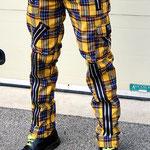 Original 15 Zip Bondage Pants (Wool Blend) by Tiger Of London- YELLOW PLAID / ¥14,000 / SKU: ccf752yel