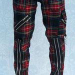 Original 15 Zip Bondage Pants (Wool Blend) by Tiger Of London- MULTI PLAID / ¥14,000/SKU: ccf752multi