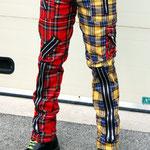 Original 15 Zip Bondage Pants (Wool Blend) by Tiger Of London- SPLIT LEG RED/YELLOW PLAID / ¥14,000 / SKU: ccf752ryl