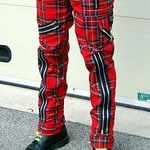 Original 15 Zip Bondage Pants (Wool Blend) by Tiger Of London- RED PLAID / ¥14,000 / SKU: ccf752red