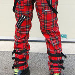Bondage Strap Trousers by Tiger Of London- RED PLAID / ¥13,000 / SKU: ccf794red