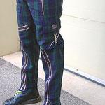 Original 15 Zip Bondage Pants (Wool Blend) by Tiger Of London- GREEN & BLUE PLAID / ¥14,000 / SKU: ccf752grn