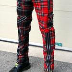 Original 15 Zip Bondage Pants (Wool Blend) by Tiger Of London- SPLIT LEG RED/MULTI PLAID / ¥14,000 / SKU: ccf752rml