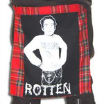 Red Plaid Bum Flap With Johnny Rotten Print by Tiger Of London: ¥3,400 / 18 inches by 16 inches