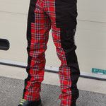 Deviant Bondage Pants by Tiger Of London- BLACK WITH RED PLAID / ¥13,000 / SKU: ccf789red