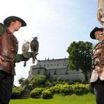 Burg Hohenwerfen mit Greifvogelschau