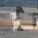 Erinnerung an einen Strandtag, digital geschichtete Fotografie