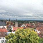 Blick vom Turm auf die Stadt Kitzingen