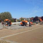 Pflasterarbeiten Parkplatz Pennymarkt
