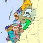 Mapa de la provincia de Manabí.