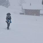 Schneetreiben in Gspon. Januar 2018