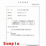防腐薬液分析書