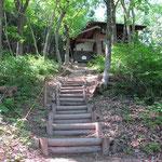 コテージ木製階段(揖斐川町・長者の里)