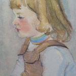 1954, MAEDCHEN, 31 x 45, Aquarell