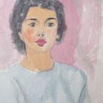 1955, Frau im Rot, 43,5 x 60, Aquarell