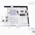 plan 2d implantation agencement étage