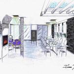 perspective côté salle à manger proposition n°1