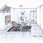 perspective côté espace cosy lounge