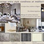 planche ambiance entre style scandinave et méditerranéen