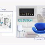 planche ambiance Ice Design et perspective à l'échelle