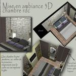 mise en ambiance 3D chambre rdc