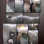 """planche APRES- plafond rétroéclairé pour redonner de la hauteur au plafond initial de """"1m90"""""""