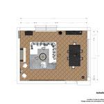 plan 2d implantation agencement intérieur