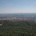 Blick vom Fernsehturm nach Süden - Richtung Pécs