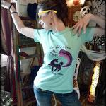 Kitsch-paradise, artisans créateurs, tee-shirt peint à la main